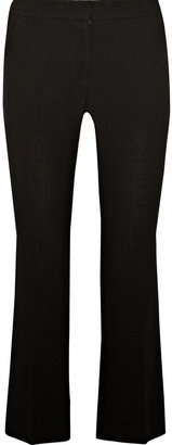Alexander McQueen Cropped wool-crepe straight-leg pants