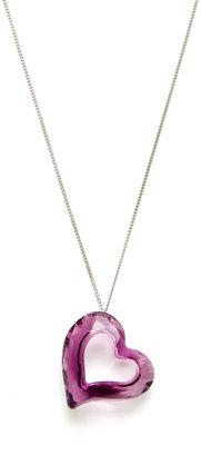 Swarovski Purple Love Heart Pendant Necklace