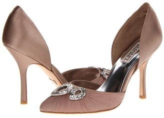 Badgley Mischka Dawn (Taupe Satin/Chiffon) - Footwear