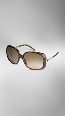 Burberry Oversize Rounded Frame Sunglasses