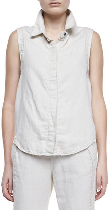 Rag and Bone Seam-Trimmed Tent Tank