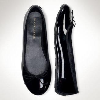 Ralph Lauren Allie Patent Leather Flat
