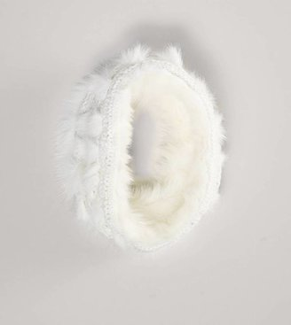 American Eagle AEO Faux Fur Knit Snood