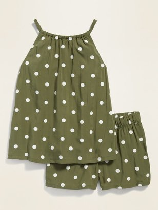 Old Navy Sleeveless A-Line Top & Shorts Set for Toddler Girls