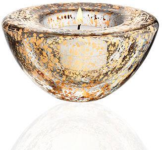 Kosta Boda Candle Holder, Glimmer Votive Gold