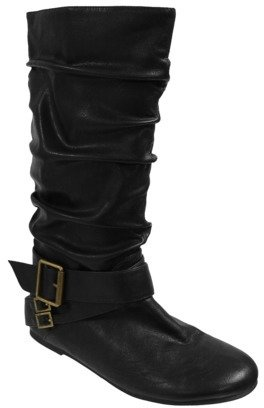 Boots Womens Glaze by Adi Slouchy Flat with Side Buckle
