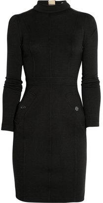 Burberry Fine-knit wool turtleneck dress