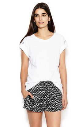 Drifter Chateau Cotton Hook-And-Eye Tee