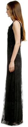 Carmen Marc Valvo Lady Lace Sequin Gown