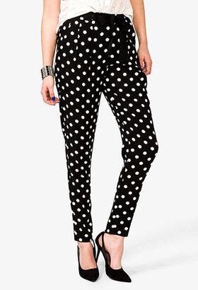 Forever 21 Polka Dot Print Pants