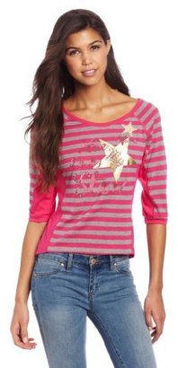 Southpole Juniors High Low Striped Top