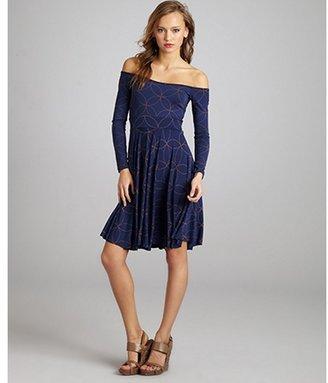 Rachel Pally midnight kaleidoscope stretch jersey 'Tegan' dress