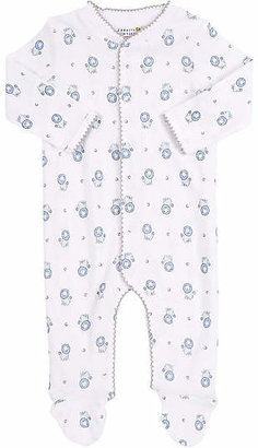 Barneys New York Infants' Lion-Print Footed Coverall - Blue