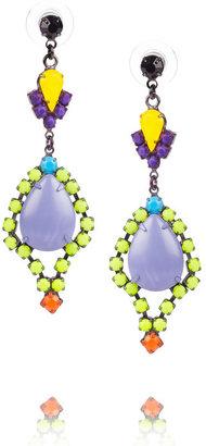 Tom Binns Riri painted Swarovski crystal and stone earrings