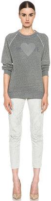 Rodarte 3D Poly-Blend Heart Sweatshirt in Grey