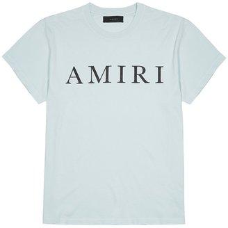 Amiri Blue Logo-print Cotton T-shirt
