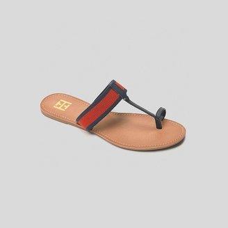 Tommy Hilfiger Women's Striped Webbing Toe Sandal