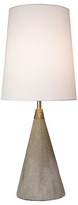 Regina Andrew Table Lamp, Concrete & Brass Mini Cone