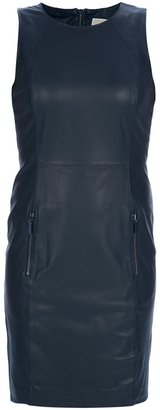 Michael Kors FITTED LEATHER DRESS