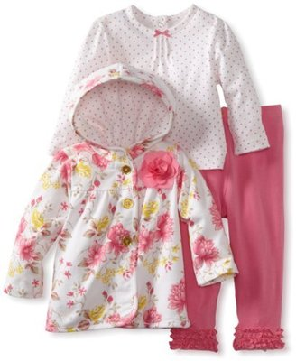 Little Me Baby-girls Infant Pretty 3 Piece Jacket Set