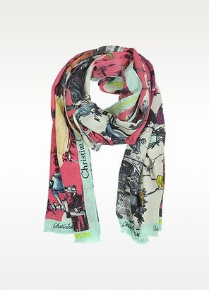 Christian Lacroix Defile' Print Wool and Silk Stole