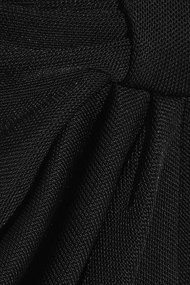 Balmain Draped jersey maxi skirt