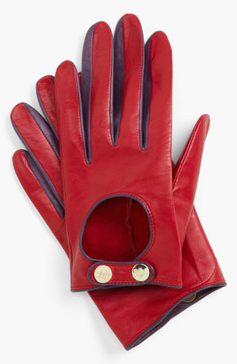 Ted Baker Button Leather Gloves