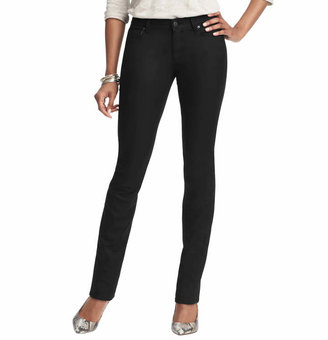 LOFT Petite Curvy Skinny Jeans in Coated Black