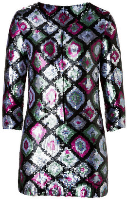 Antik Batik Sequined Tunic in Khaki