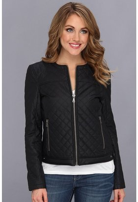 Vince Camuto TWO by Coated Cotton Quilted Jacket (New Navy) - Apparel