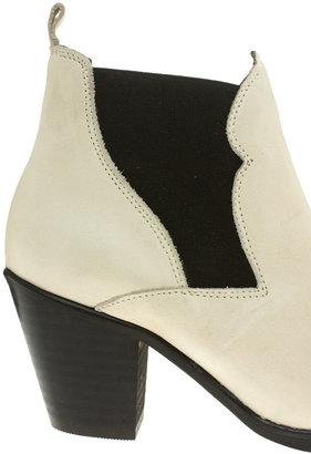 Aldo Handshaw Cream Heeled Chelsea Boots