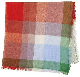 Uniqlo WOMEN Square Cotton Linen Stole(Madras)