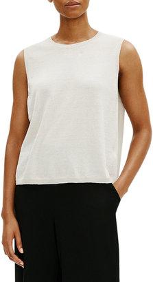 Eileen Fisher Crewneck Organic Linen-Cotton Shell
