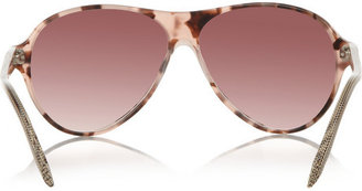 Victoria Beckham Aviator-style acetate sunglasses