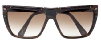 Lanvin Snake-Embossed Leather and Acetate Sunglasses