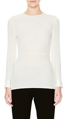 Theory Amer Top in Double Georgette
