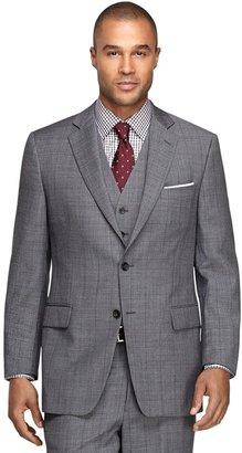 Brooks Brothers Fitzgerald Fit Three-Piece Sharkskin 1818 Suit