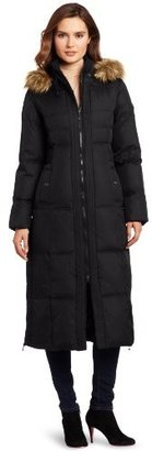 Larry Levine Women's Maxi Length Down Coat