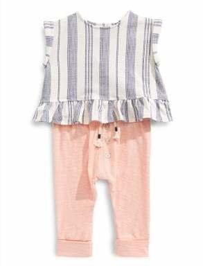 Jessica Simpson Baby Girl's 2-Piece Top Cotton Blend Leggings Set