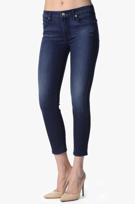 """7 For All Mankind The Kimmie Crop In Legacy Blue (26"""" Inseam)"""