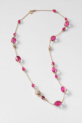 Lands' End Women's Autumn Leaf Long Necklace