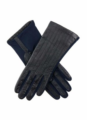 Dents Olivia Women's Leather and Elastane Gloves NAVY ONE