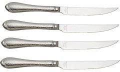 Reed & Barton Hammered Antique Steak Knives-Set of 4