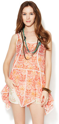 Free People Chiffon Printed Slip