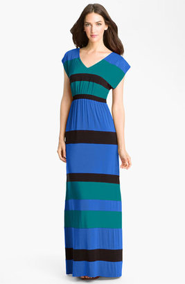 Current Affair Stripe V-Neck Maxi Dress