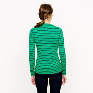 J.Crew Cotton V-neck sweater in stripe