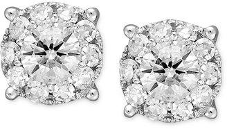 Diamond Stud Earrings in 14k White Gold (1/2 ct. t.w.)