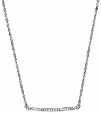 Bloomingdale's Diamond Bar Necklace in 14K White Gold, .10 ct. t.w.