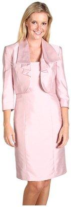 Tahari by Arthur S. Levine Tahari by ASL - Cecilia Shantung Jacket Dress (Pink) - Apparel