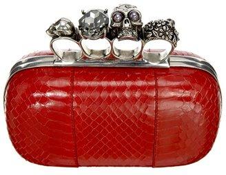 Alexander McQueen Red Knuckle Duster Clutch